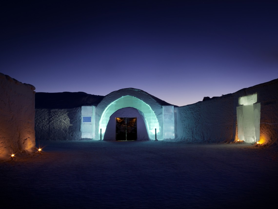 Ice Hotel entrance photo by Leif Milling