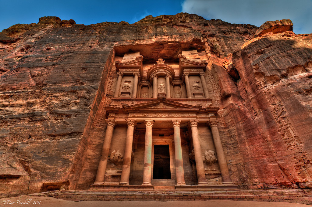 The Treasury, Nabataean City of Petra in Jordan, photo from travel featured.com