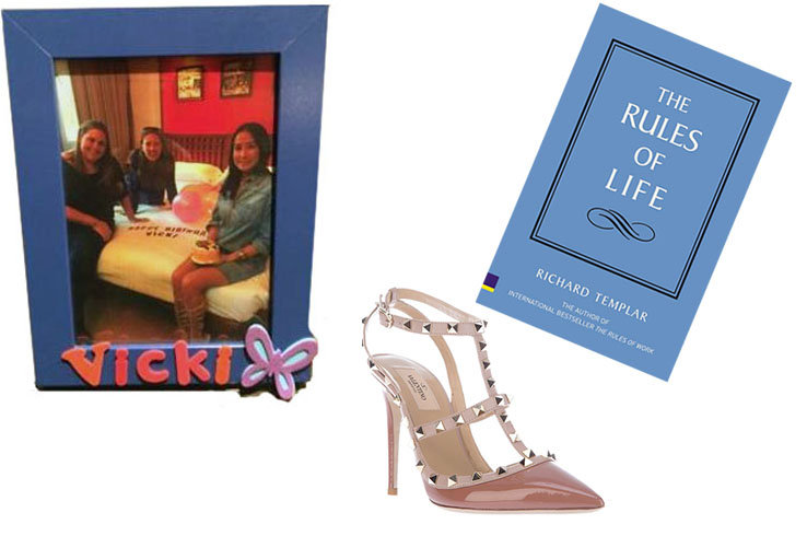 My picture frame gift; Valentino Rockstuds; The Rules of Life