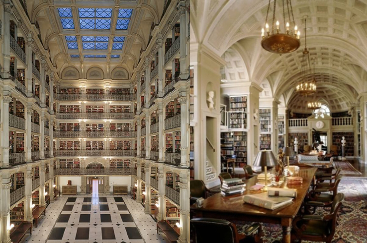 Peabody Library in Baltomore, Maryland; dream library