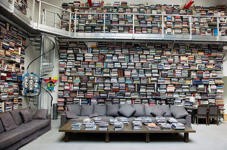 Karl Lagerfeld's chic library
