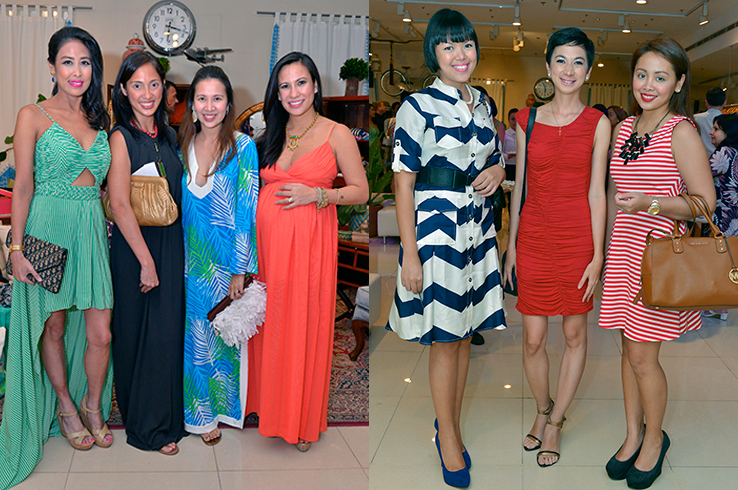 With Vain Mama Vanessa Santos and Commander in Chic Mikka Padua; Mela Sison, Charisse Vilchez