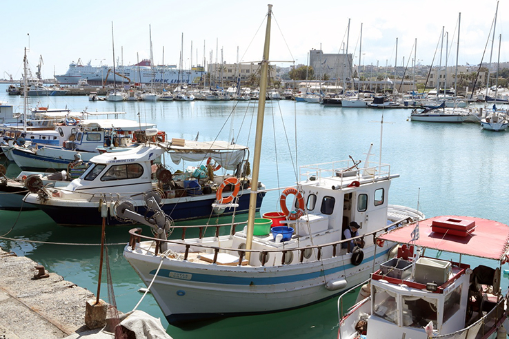 Port of Heraklion, which is the capital city of Crete. It colonized by the Venetian Empire in 1200 AD