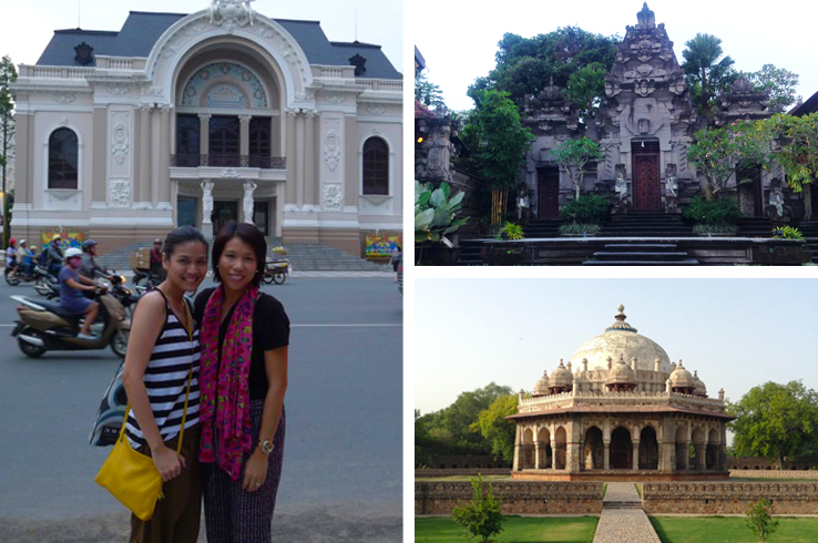 Charlene (left) and Leona (right) travel not just to shop but also experience different cultures around the world!