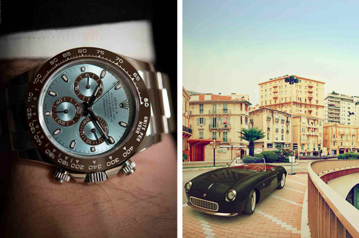 Driving around in a vintage car and sporting a vintage Rolex should be in your itinerary while in Monaco