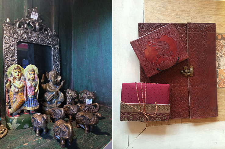 Ornate mirrors and intricately embossed document holders are both lovely to look at and useful too
