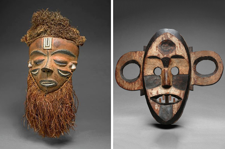Some masks take the form of a tribe's wise ancestor or an animal known for its qualities of surviving the wild