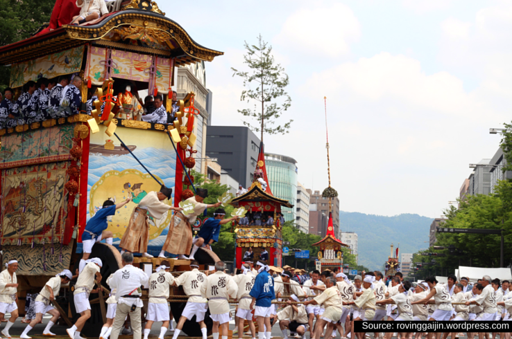 The Gion Matsuri is Japan's most important festival.