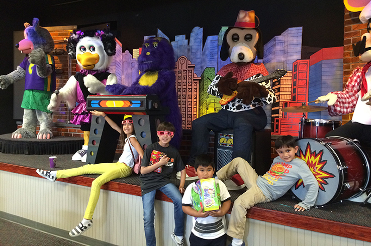 Take the kids to Chuck E Cheese