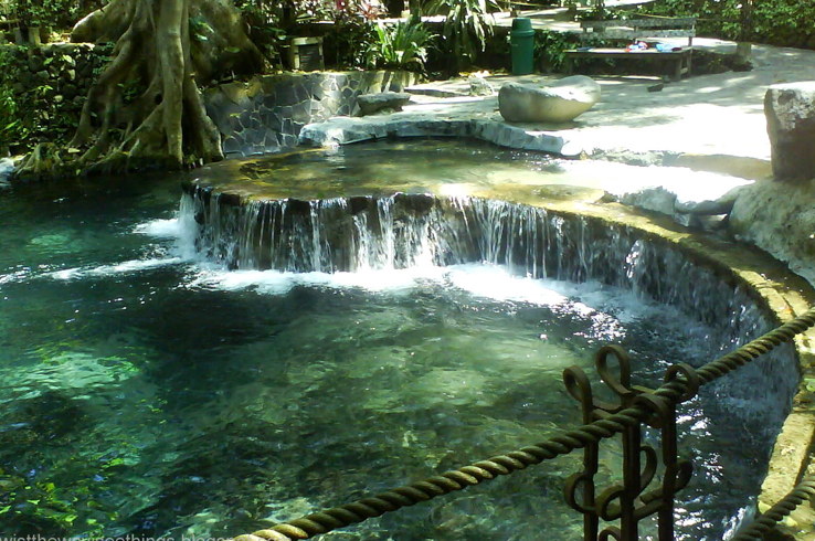 The sound of water cascading, the warmth emanating from underneath the earth... this is paradise!
