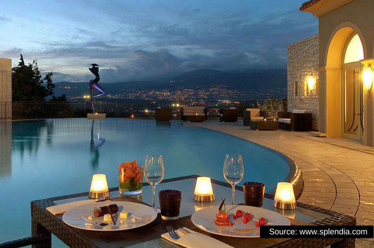 Wine and dine with a stunning view of the Alps in Le Mas Candille in Mougines, France