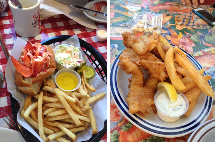 lobster roll fish chips