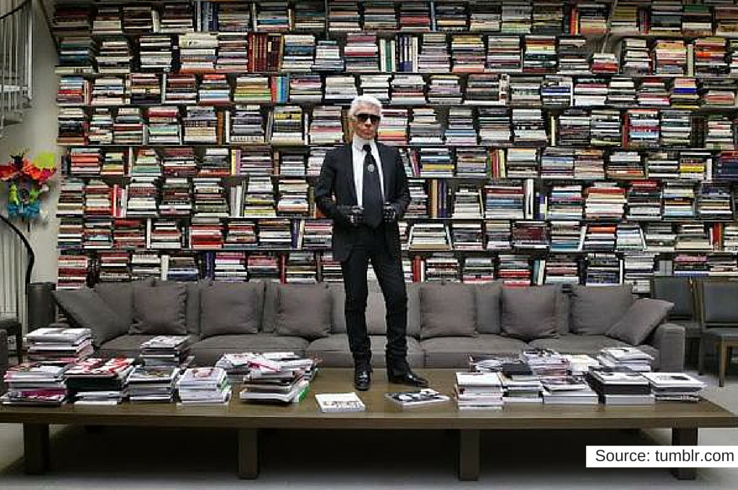Lagerfeld is a logophile.