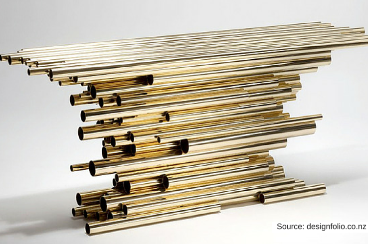 Structured furniture is central to Hervé Van der Straeten's creative process.