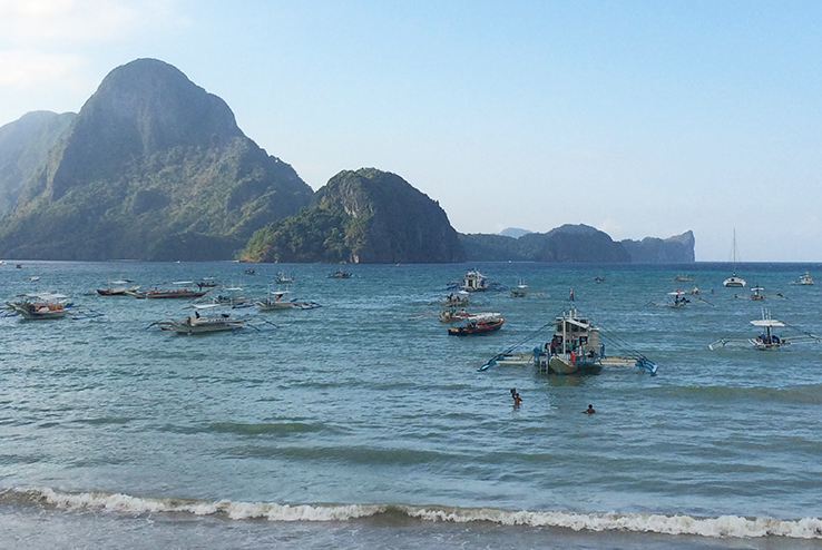 View in El Nido town