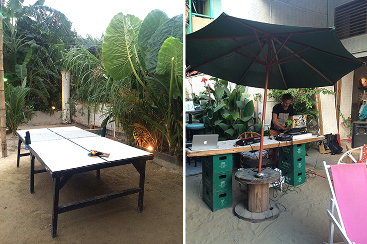 At The Bazaar: table tennis and Sunday DJ sessions