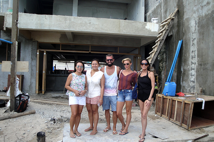 The team behind SAVA Beach Bar (missing Brigitte) - we hope to open April 21