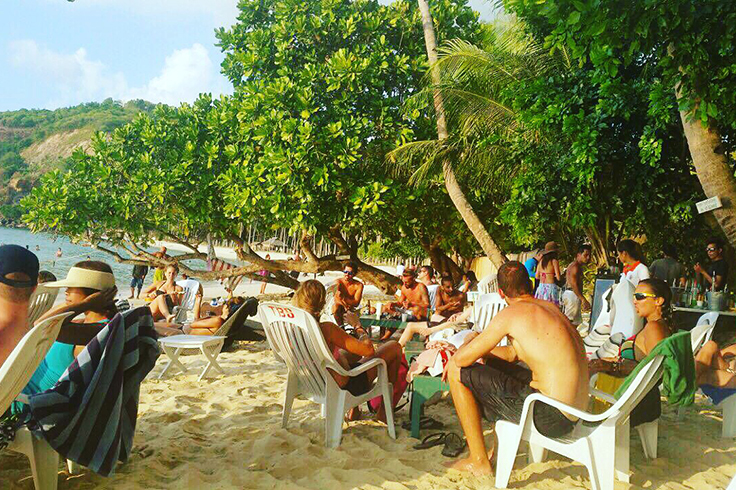 The current scene at the SAVA Beach Bar Pop-Up, The Beach Shack. Photo: Melanie Alvarez
