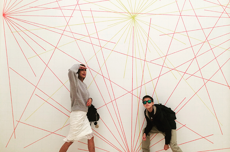 Going off on a tangent (haha) at SF MOMA