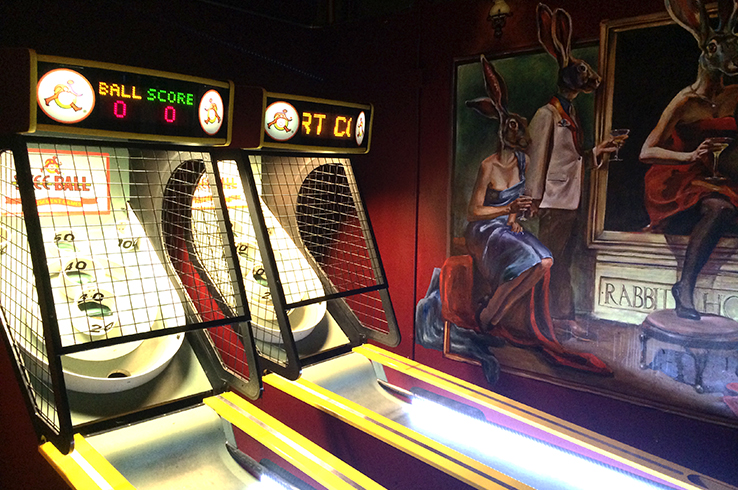 Yes, this is a bar in Belltown and did we play skee ball? Hells yeah!