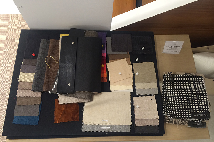 Customize your Philux furniture with a choice of fabric swatches