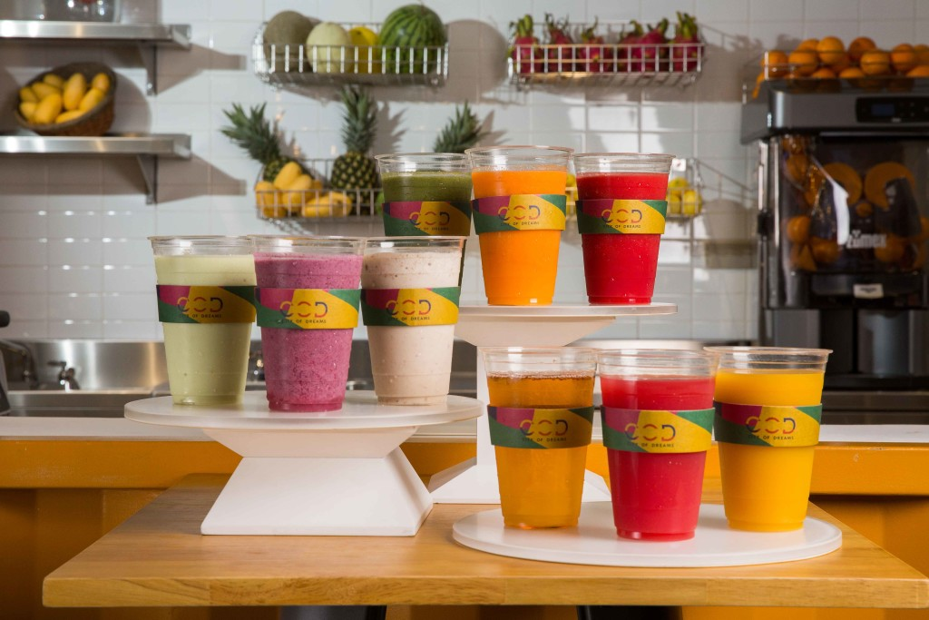 Smoothies and juice drinks at Juiced